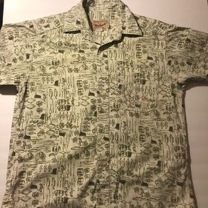 Vintage Woolrich Fly Fishing All Over Print Shirt